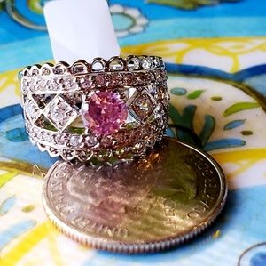 Jewelry - Pink Topaz & White Sapphire Ring